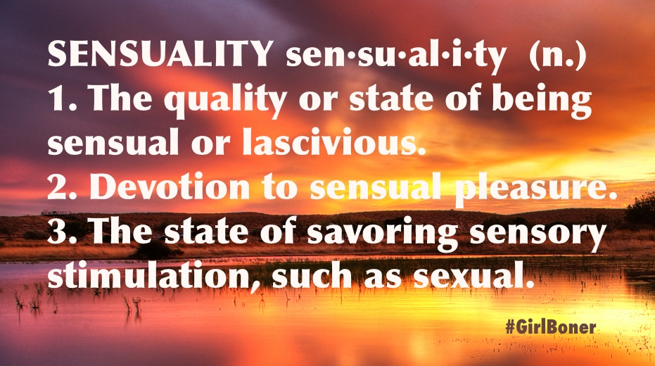 Sensuality definition