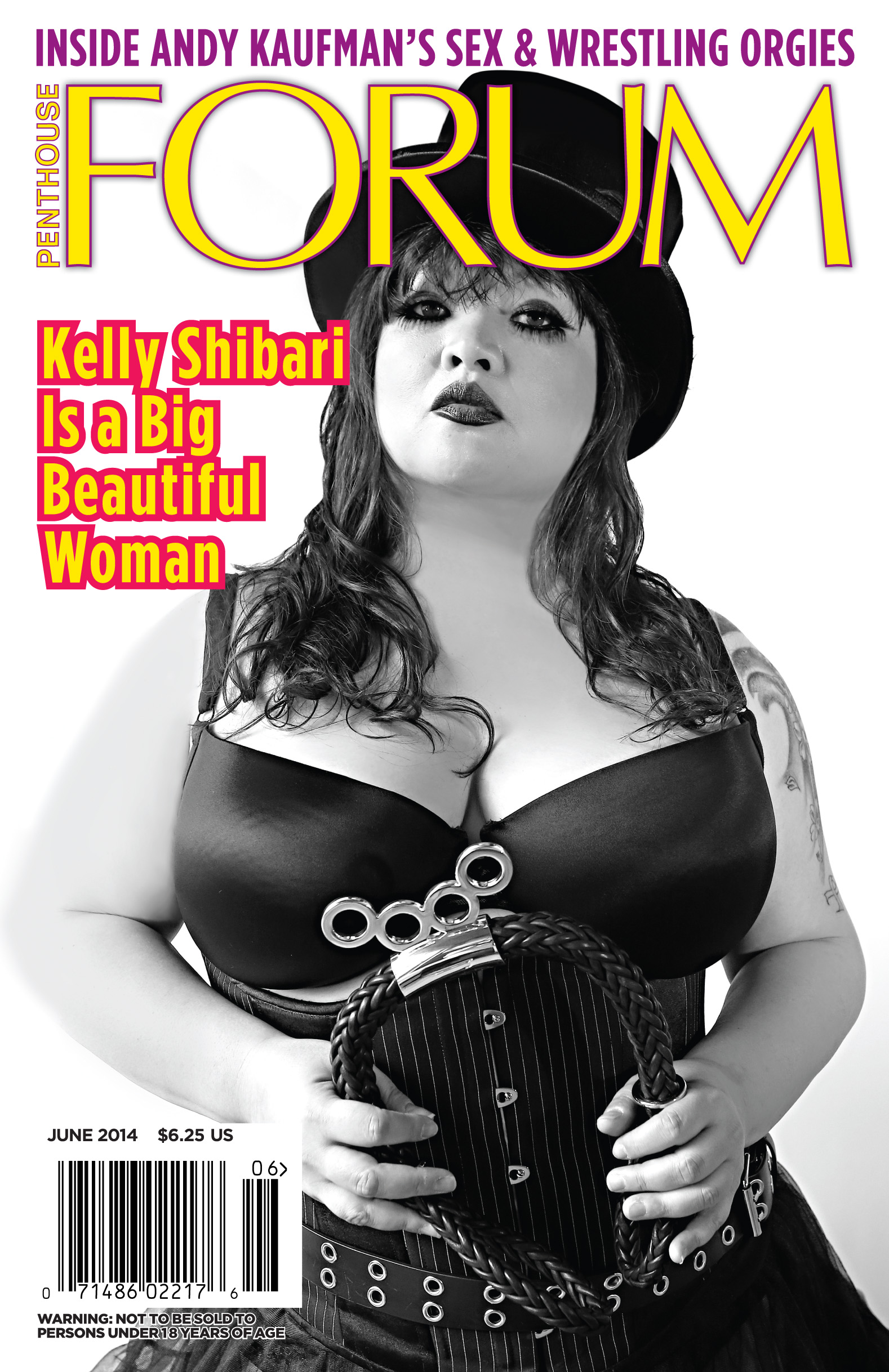 Kelly Shibari made history as the first Penthouse Magazine title cover girl