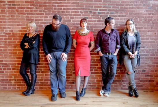 Cindy Gallop (left) and her Make Love Not Porn TV team