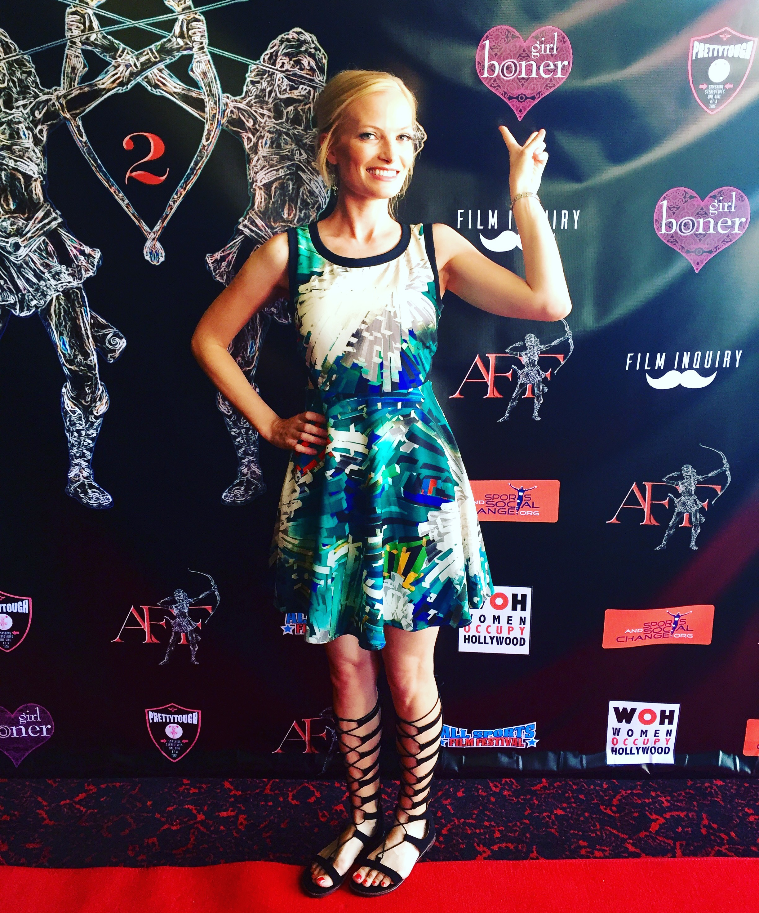 On the red carpet at the Artemis Women in Action Film Festival #grateful