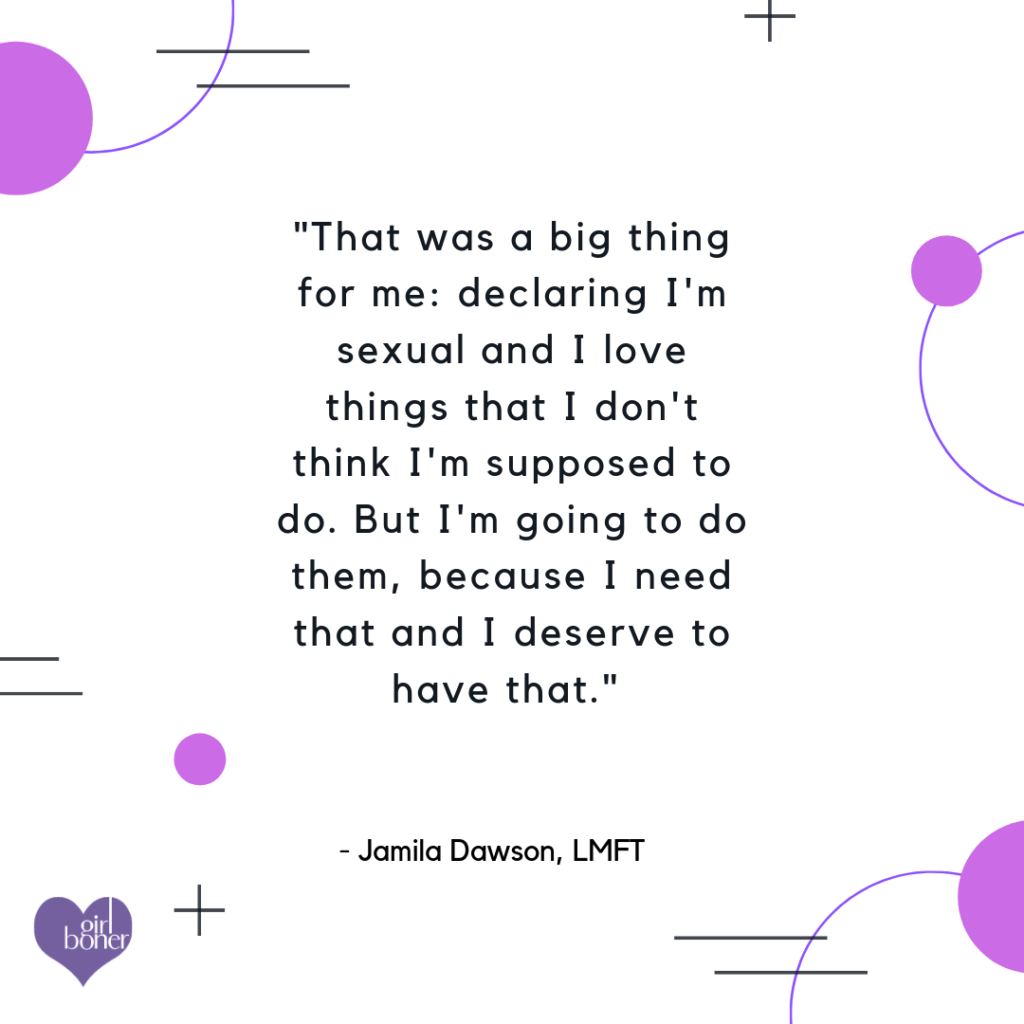 Jamila Dawson pleasure podcast quote sex therapist